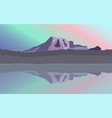 landscape of mountains vector image vector image