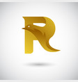 letter r with dove logo concept creative and vector image