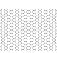 line grid of hexagons black and white seamless vector image