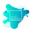 liquid gradient banner vector image