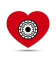 Love Heart Safe Security Concept vector image