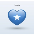 Love Somalia symbol Heart flag icon vector image vector image