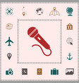 microphone symbol icon elements for your design vector image
