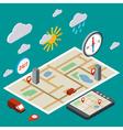 Mobile navigation transport vector image