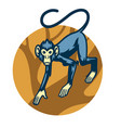 monkey mascot at the forest vector image vector image