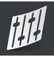 Monochrome faders sticker vector image vector image