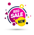 new big sale offer colorful label element vector image vector image
