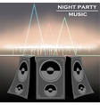 night party music vector image vector image