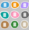 nightstand symbols Multicolored paper stickers vector image vector image