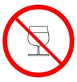 No alcohol sign in red ring