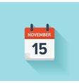 November 15 flat daily calendar icon vector image vector image