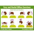 Office syndrome infographic Exercises with vector image vector image