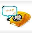 Old Phone as text box vector image vector image