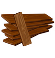 Pile of wooden plywoods vector image vector image