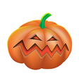 Pumpkin angry on white background vector image vector image