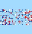 red blue white stars on light blue vector image