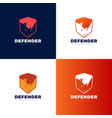 rhino shield security logo template icon vector image vector image