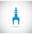 Rocket Space Ship launch Symbol Icon Design vector image vector image