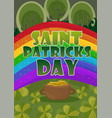 saint patricks day card design - treasure of vector image
