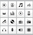 set of 16 editable melody icons includes symbols vector image vector image