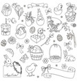 set of easter symbols vector image