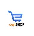 shopping cart logo design cart icon design vector image vector image