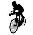 silhouettes of cyclists vector image vector image