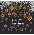 sketch - Greeting card with vector image vector image