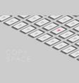 smartphones black color isometric flat design map vector image vector image