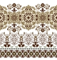 Striped seamless pattern Floral wallpaper vector image