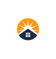 sun house logo icon design vector image vector image