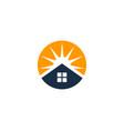 sun house logo icon design vector image