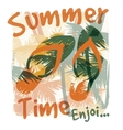 Tropical summer print with slogan for t-shirt vector image vector image