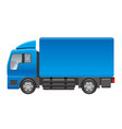 truck on a white background vector image vector image
