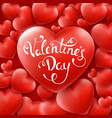 valentines day background with red hearts and text vector image vector image