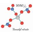 Vanadyl nitrate VON3O9 molecule vector image vector image