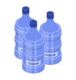water bottle for cooler icon isometric style vector image vector image