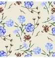 Watercolor linen pattern vector image