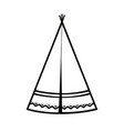 wigwam icon indian teepee or tipi vector image