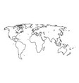 world map it is black icon vector image