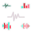 set of color label design collection of sound and vector image