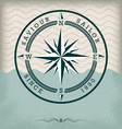 Vintage compass rose vector image