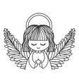 cute angel icon vector image