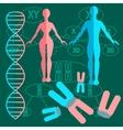Set genetics people vector image