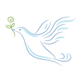 Peace dove sketch vector image