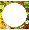 Vegetables background with place for text healthy vector image