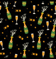 2020 champagne bottles new years eve celebration vector image