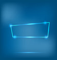 abstract neon frame vector image vector image