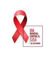 aids awareness red ribbon spanish world aids day vector image vector image