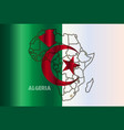 algeria isolated on map vector image
